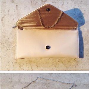 Handbags - Nude color clutch purse
